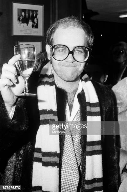 Watford FC Chairman Elton John pictured at the Hillingdon v Watford match FA Cup 2nd round final score was 32 to Watford 11th December 1976
