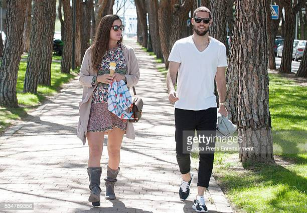 Watford FC football player Mario Suarez and his girlfriend model Malena Costa are seen on May 2 2016 in Madrid Spain