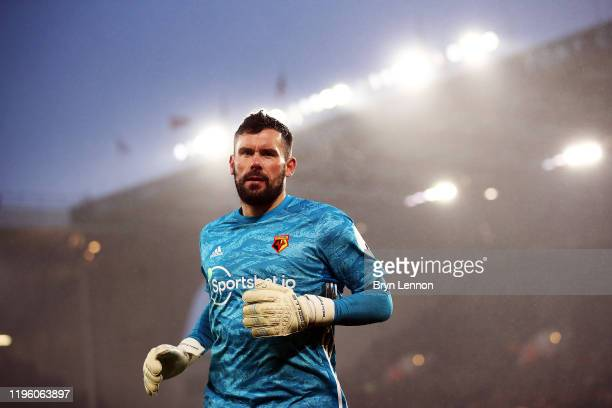 Watford goal keeper Ben Foster looks on during the Premier League match between Sheffield United and Watford FC at Bramall Lane on December 26, 2019...