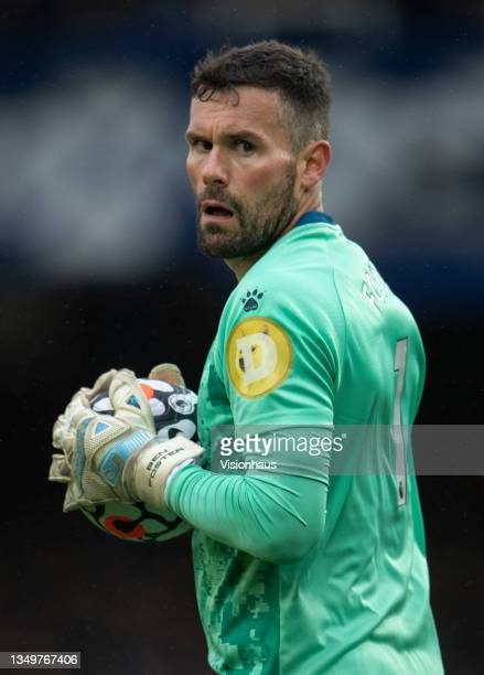 Watford goalkeeper Ben Foster during the Premier League match between Everton and Watford at Goodison Park on October 23, 2021 in Liverpool, England.