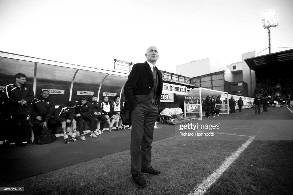 Watford manager Giuseppe Sannino during the Sky Bet Championship match between Watford and Queens Park Rangers at Vicarage Road on December 29, 2013 in Watford, England,