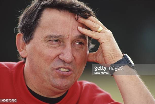 Watford manager Graham Taylor pictured during a feature on May 26 1997 in Watford England