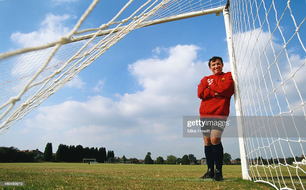 Watford manager Graham Taylor pictured during his second stint as manager on May 26, 1997 in Wwatford, England.
