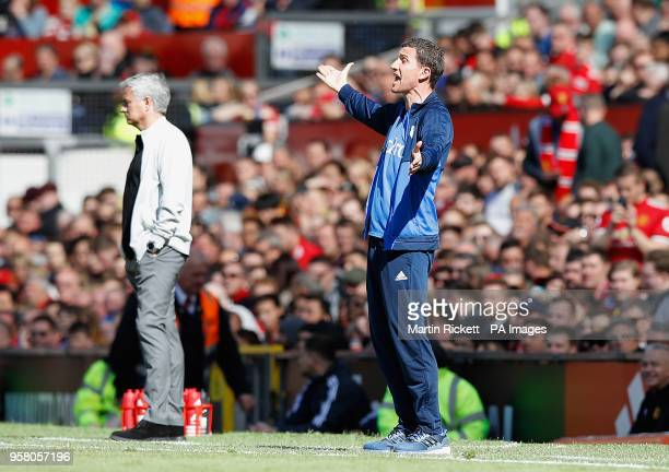 Watford manager Javi Gracia on the touchline during the Premier League match at Old Trafford Manchester