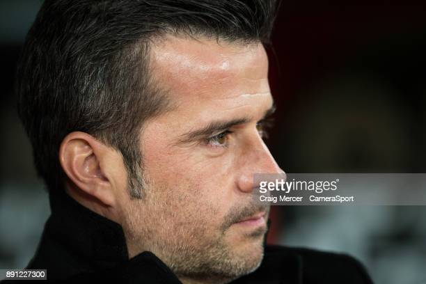 Watford manager Marco Silva during the Premier League match between Crystal Palace and Watford at Selhurst Park on December 12 2017 in London England