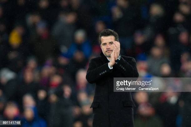Watford manager Marco Silva looks dejected as he applauds the fans at the final whistle during the Premier League match between Crystal Palace and...