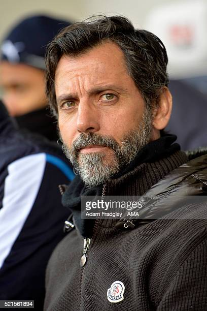 Watford Manager Quique Sanchez Flores looks on prior to the Barclays Premier League match between West Bromwich Albion and Watford at The Hawthorns...