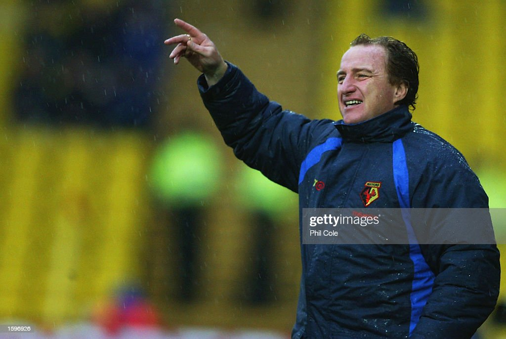 Watford manager Ray Lewington during the Nationwide League Division One match between Watford and Wolverhampton Wanderers held on November 2, 2002 at Vicarage Road in Watford, England. The match ended in a 1-1 draw. DIGITAL