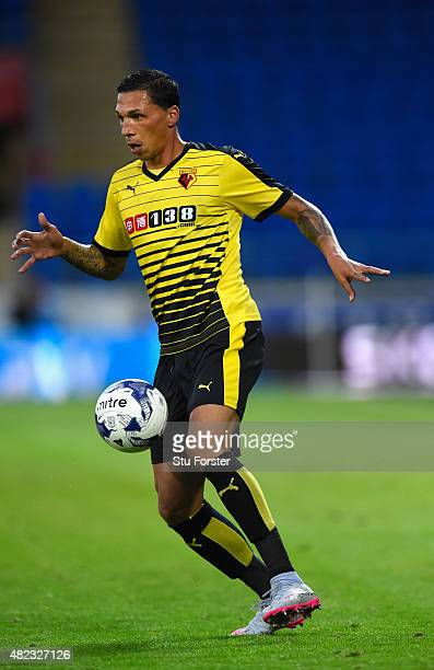 Watford player Jose Holebas in action during the Pre season friendly match between Cardiff City and Watford at Cardiff City Stadium on July 28 2015...