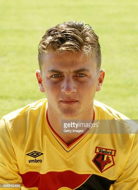 Watford player Tim Sherwood circa 1988. Sherwood played for Watford between 1987-89.