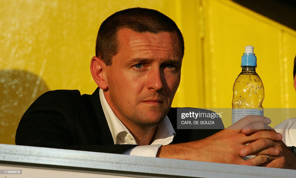 Watford's Manager Adrian Boothroyd watches their friendly match against Inter Milan at home to Watford, 08 August 2006. The match ended 1-1.