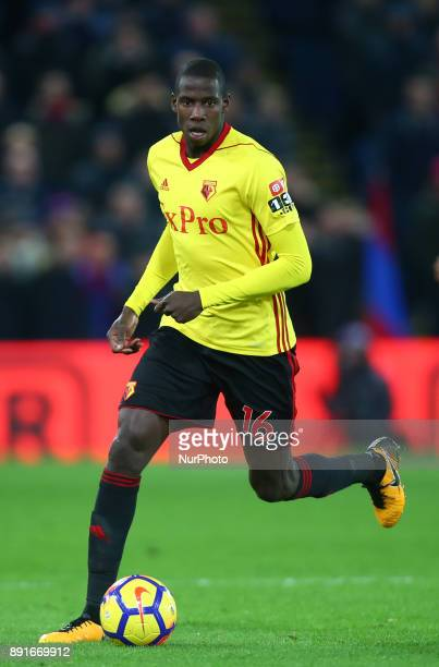 Watford's Abdoulaye Doucoure during Premier League match between Crystal Palace and Watford at Selhurst Park Stadium London England 12 Dec 2017