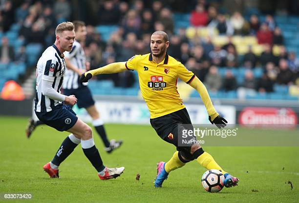 Watford's Adlene Guedioura during The Emirates FA Cup Fourth Round match between Millwall against Watford at The Den on 29th Jan 2017