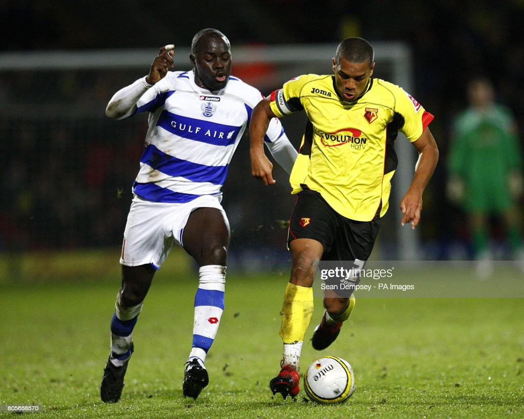Watfords Adrian Mariappa Gets Away From Queens Park Rangers