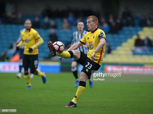 Watford's Ben Watson during The Emirates FA Cup Fourth Round match between Millwall against Watford at The Den on 29th Jan 2017