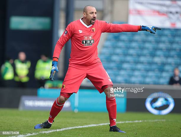 Watford's Heurelho Gomes during The Emirates FA Cup Fourth Round match between Millwall against Watford at The Den on 29th Jan 2017