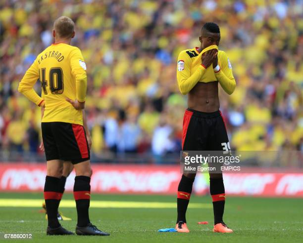 Watford's Nathaniel Chalobah and Joel Ekstrand dejected after the final whistle
