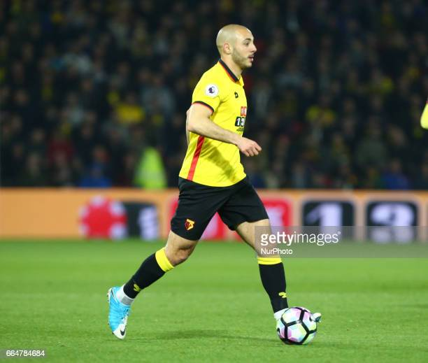 Watford's Nordin Amrabat during EPL Premier League match between Watford against West Bromwich Albion at Vicarage Road Watford Britain 04 April 2017