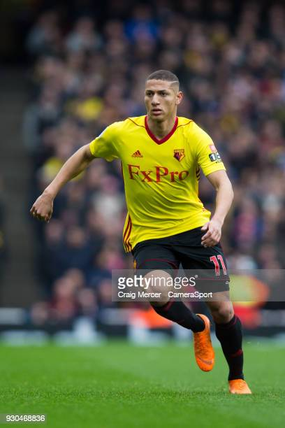 Watford's Richarlison during the Premier League match between Arsenal and Watford at Emirates Stadium on March 11, 2018 in London, England.