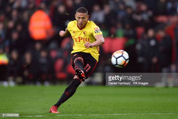 Watford's Richarlison shoots