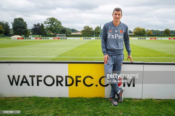 Watford's Spanish manager Javi Gracia poses for a photograph at the team's training ground in north London on September 11 2018 Four games into the...