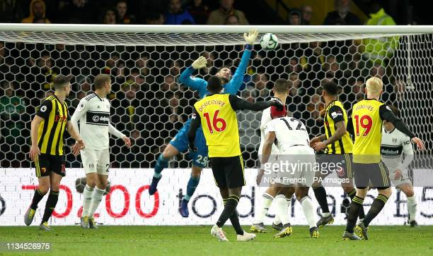 Watford's Will Hughes scores his side's second goal of the game during the Premier League match at Vicarage Road Watford