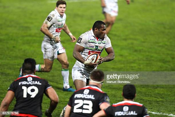 Watisoni Votu of Pau during the French Top 14 match between Toulouse and Pau at Stade Ernest Wallon on January 28 2017 in Toulouse France