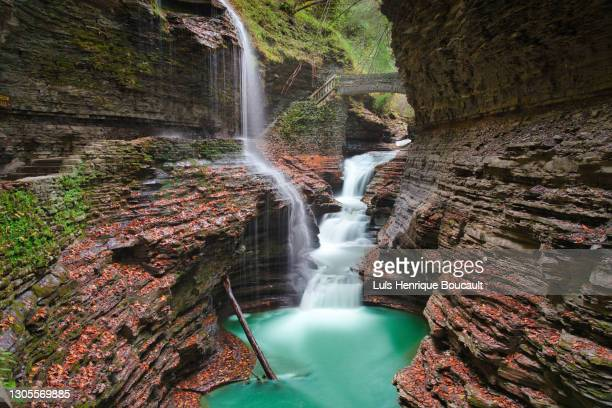 watkins glen and running water - state park stock pictures, royalty-free photos & images