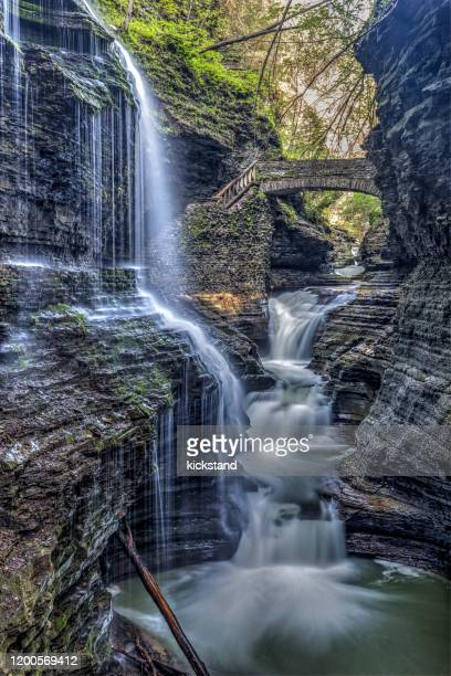 watkins glen state park new york - finger lakes stock pictures, royalty-free photos & images