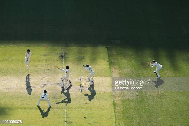Watling of New Zealand bats during day four of the First Test match in the series between Australia and New Zealand at Optus Stadium on December 15,...