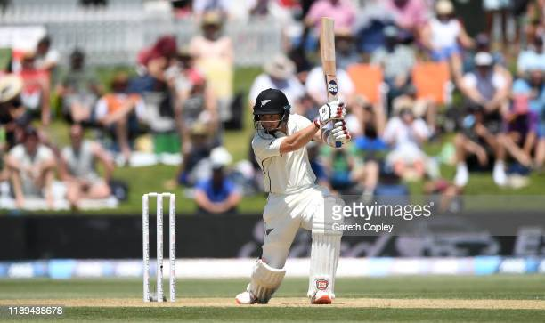 Watling of New Zealand bats during day three of the first Test match between New Zealand and England at Bay Oval on November 23 2019 in Mount...