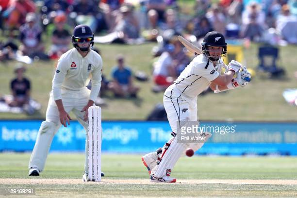 Watling of New Zealand bats during day three of the first Test match between New Zealand and England at Bay Oval on November 23, 2019 in Mount...