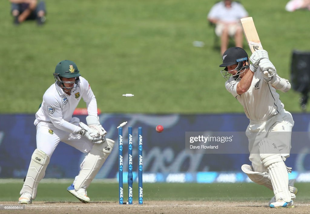 New Zealand v South Africa - 3rd Test: Day 4