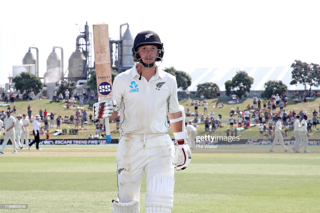 New Zealand v England - First Test: Day 4 : News Photo