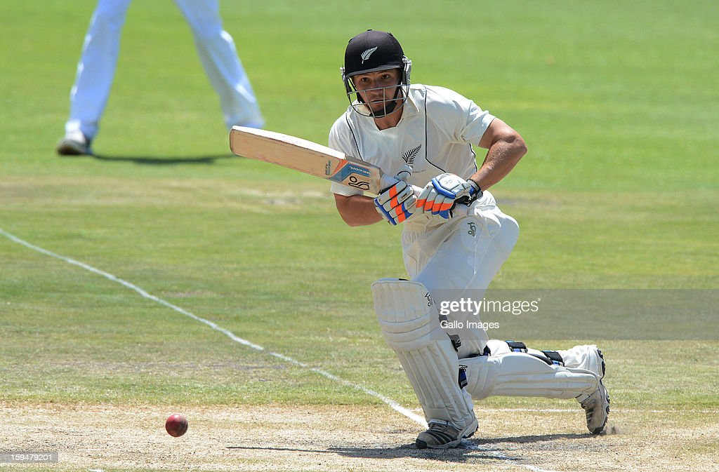 Watling of New Zealand on his way to his 50 during day 4 of the 2nd Test match between South Africa and New Zealand at Axxess St Georges on January 14, 2013 in Port Elizabeth, South Africa.