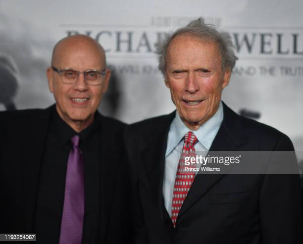 """Watson Bryant Jr. And Clint Eastwood attend the """"Richard Jewell"""" Atlanta Screening at Rialto Center of the Arts on December 10, 2019 in Atlanta,..."""