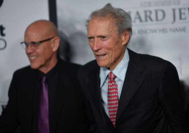 G Watson Bryant Jr and Clint Eastwood attend the Richard Jewell Atlanta Screening at Rialto Center of the Arts on December 10 2019 in Atlanta Georgia