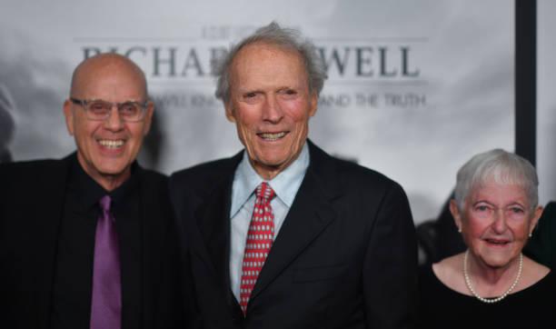 G Watson Bryant Jr Clint Eastwood and Barbara Bobi Jewell attend the Richard Jewell Atlanta Screening at Rialto Center of the Arts on December 10...