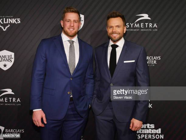 Watt and Joel McHale attend SPORTS ILLUSTRATED 2017 Sportsperson of the Year Show on December 5 2017 at Barclays Center in New York City Tune in to...
