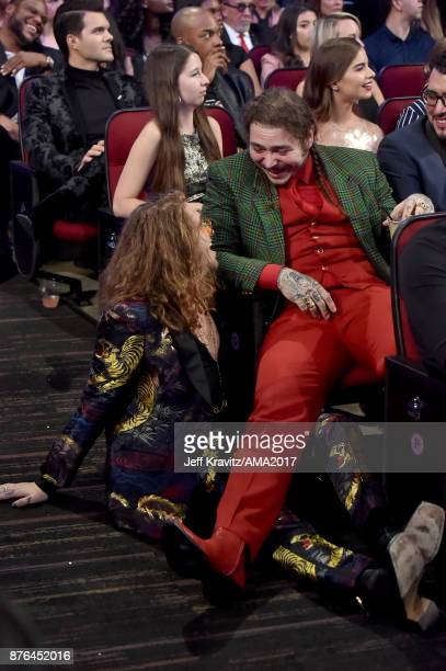 Watt and Post Malone at the 2017 American Music Awards at Microsoft Theater on November 19 2017 in Los Angeles California