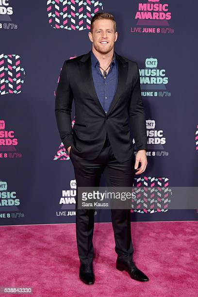 J J Watt attends the 2016 CMT Music awards at the Bridgestone Arena on June 8 2016 in Nashville Tennessee