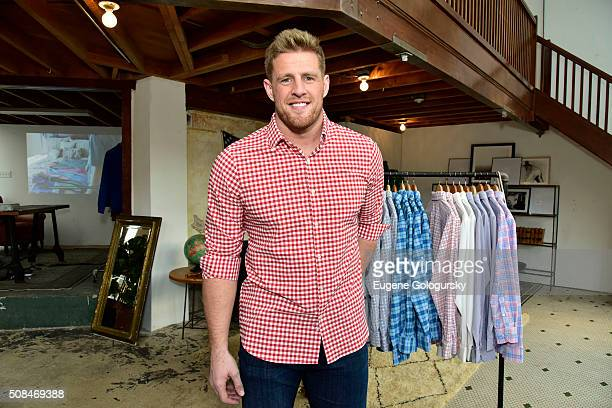 J Watt attends the JJ Watt At MizzenMain PopUp Shop In San Francisco on February 4 2016 in San Francisco California