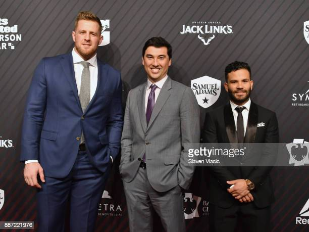 J Watt Chris Stone and Jose Altuve attend SPORTS ILLUSTRATED 2017 Sportsperson of the Year Show on December 5 2017 at Barclays Center in New York City