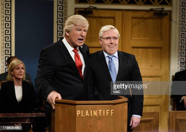 LIVE JJ Watt Episode 1779 Pictured Alec Baldwin as Donald Trump and Beck Bennett as Mitch McConnell during the Impeachment Fantasy Cold Open on...