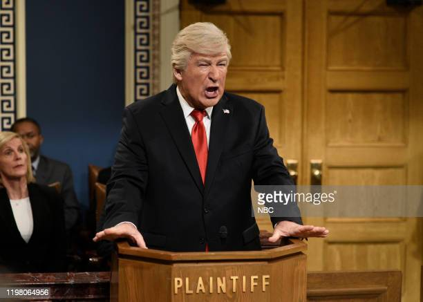 LIVE JJ Watt Episode 1779 Pictured Alec Baldwin as Donald Trump during the Impeachment Fantasy Cold Open on Saturday February 1 2020