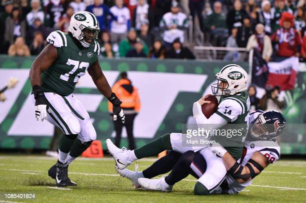 J Watt of the Houston Texans in action against the New York Jets at MetLife Stadium on December 15 2018 in East Rutherford New Jersey