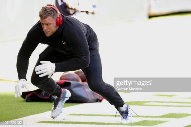 Watt of the Houston Texans in action against the Tennessee Titans during a game at NRG Stadium on January 03, 2021 in Houston, Texas.