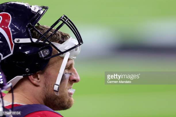 Watt of the Houston Texans looks on against the Tennessee Titans during a game at NRG Stadium on January 03, 2021 in Houston, Texas.
