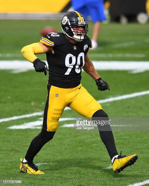 Watt of the Pittsburgh Steelers in action during the game against the Houston Texans at Heinz Field on September 27, 2020 in Pittsburgh, Pennsylvania.