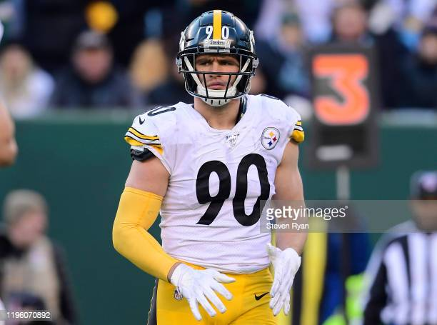 Watt of the Pittsburgh Steelers looks on against the New York Jets at MetLife Stadium on December 22, 2019 in East Rutherford, New Jersey.
